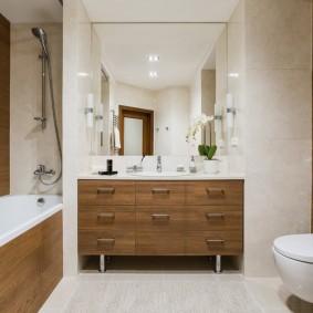 Meubles de salle de bain avec tiroirs