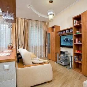 Meubles d'armoire dans le salon avec un canapé