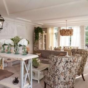 Intérieur de cuisine de salon de style Provence