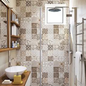Garniture de salle de bain de style patchwork