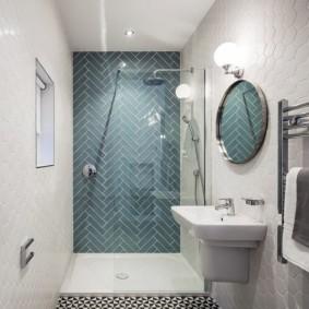 Zonage de la salle de bain avec couleur de mur