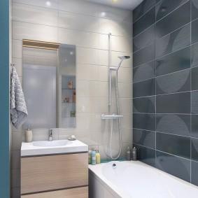 Intérieur de salle de bain sans WC