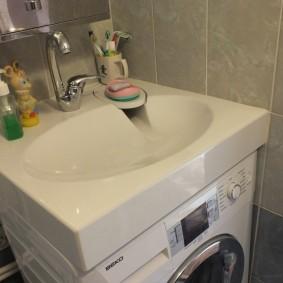 La combinaison d'un évier avec une machine à laver