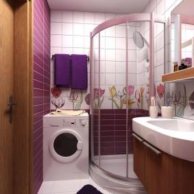 Place pour laver à l'intérieur de la salle de bain