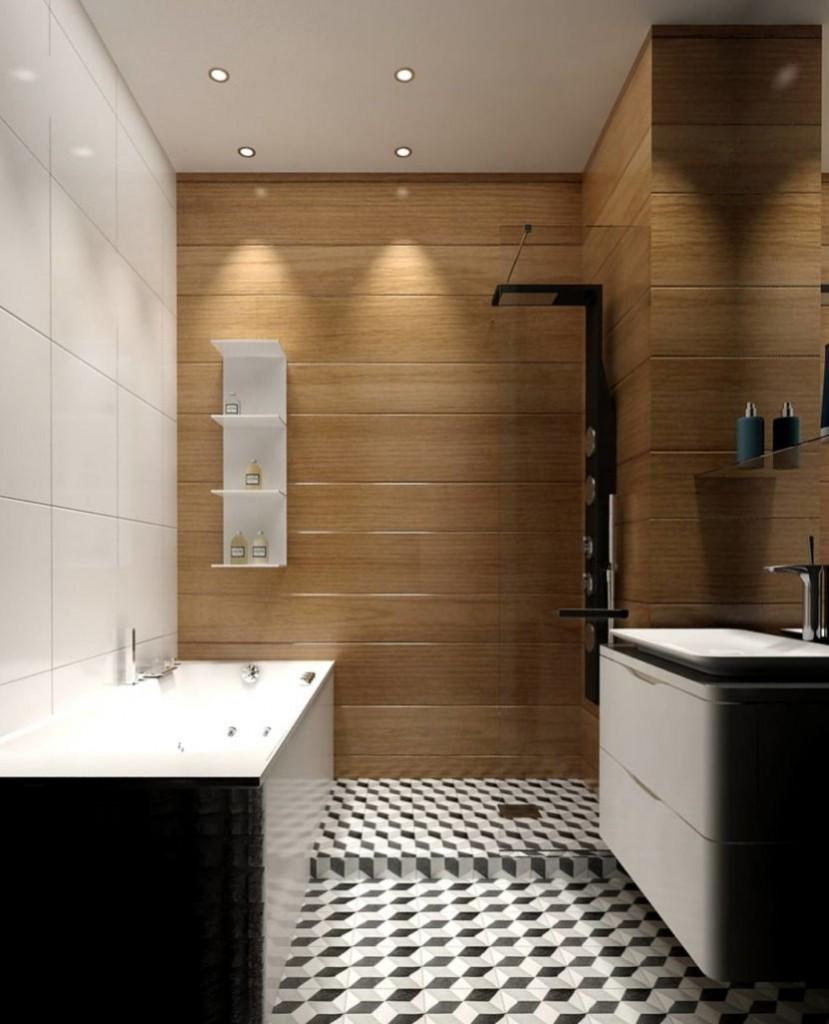 Petite salle de bain high-tech