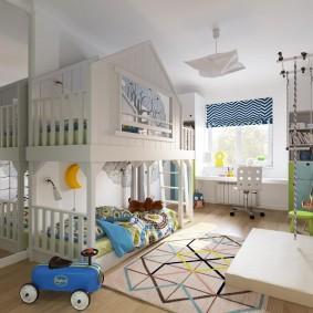 salle de jeux chambre d'enfant décor photo