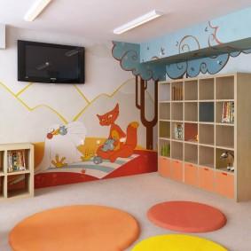 salle de jeux chambre d'enfants intérieur