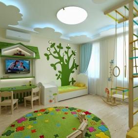 salle de jeux chambre d'enfants idées intérieur
