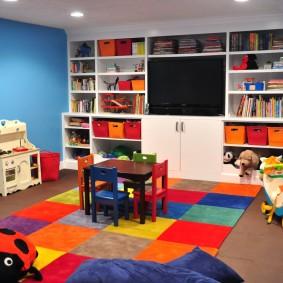 salle de jeux chambre d'enfants décoration photo