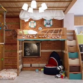 salle de jeux enfants chambre idées photo