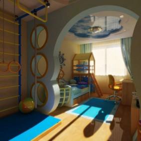salle de jeux idées chambre d'enfants vues