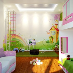 jeu types de décoration de chambre d'enfants