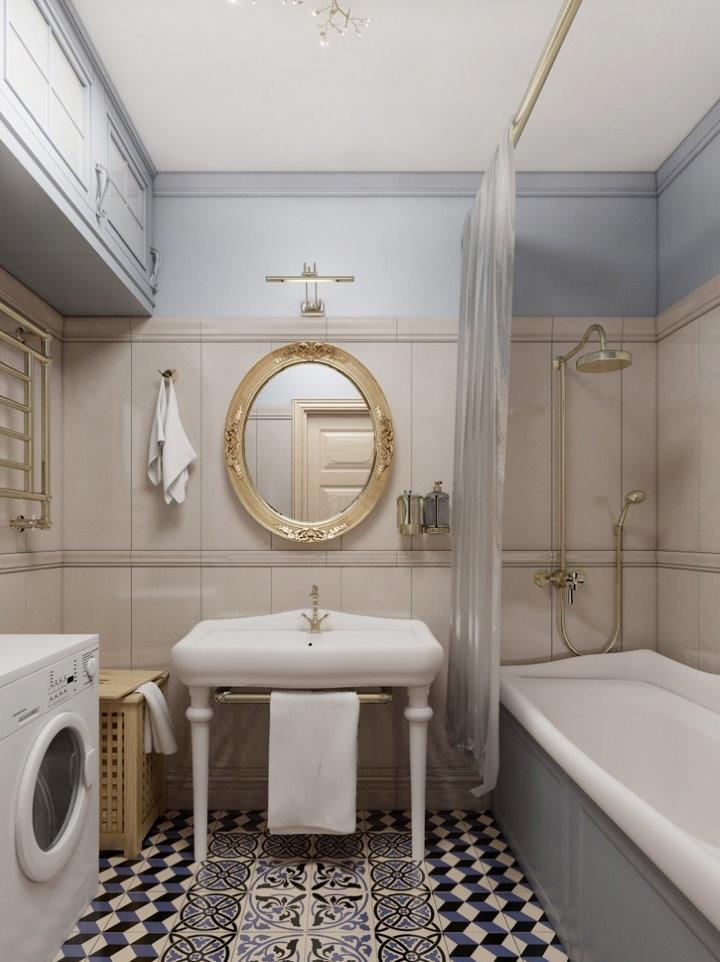 Miroir ovale carré 3 salles de bain