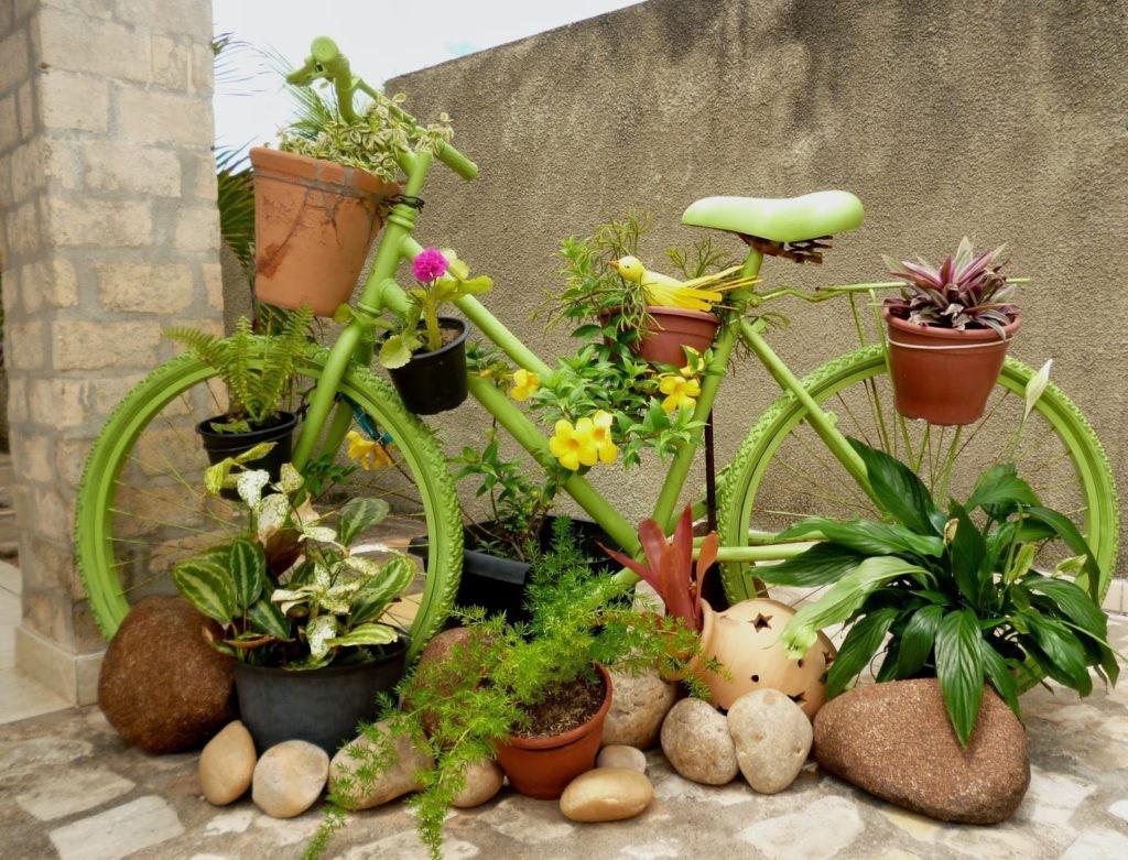Lit de jardin vélo grand-père