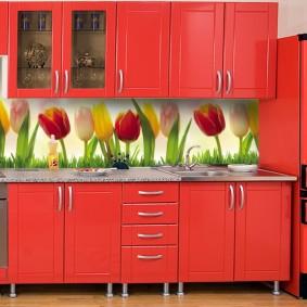 Tablier de cuisine en MDF décor photo