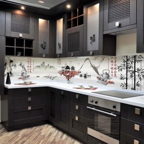 Idées de conception de tablier de cuisine en MDF