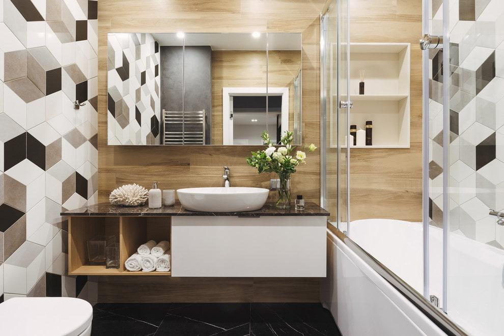 Petit meuble suspendu de salle de bain