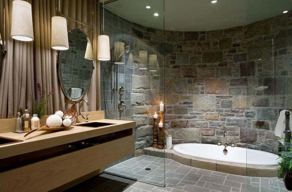 finition de bain en pierre