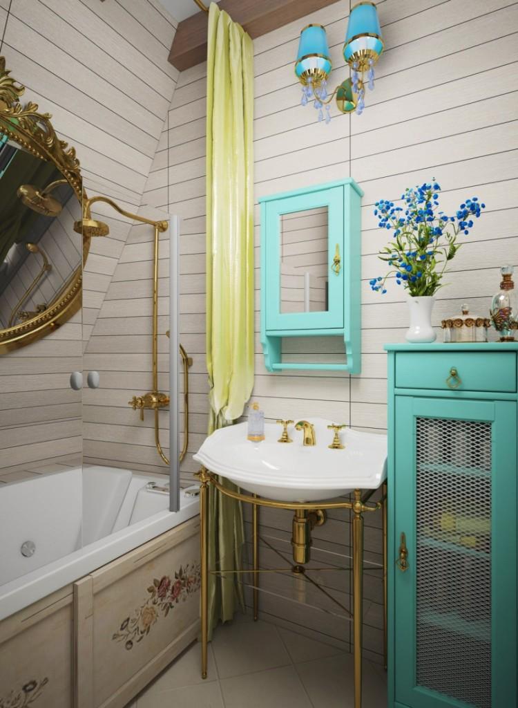 Intérieur petite salle de bain style Provence