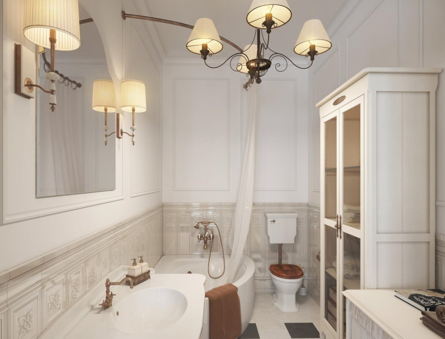 Décor de salle de bain rustique