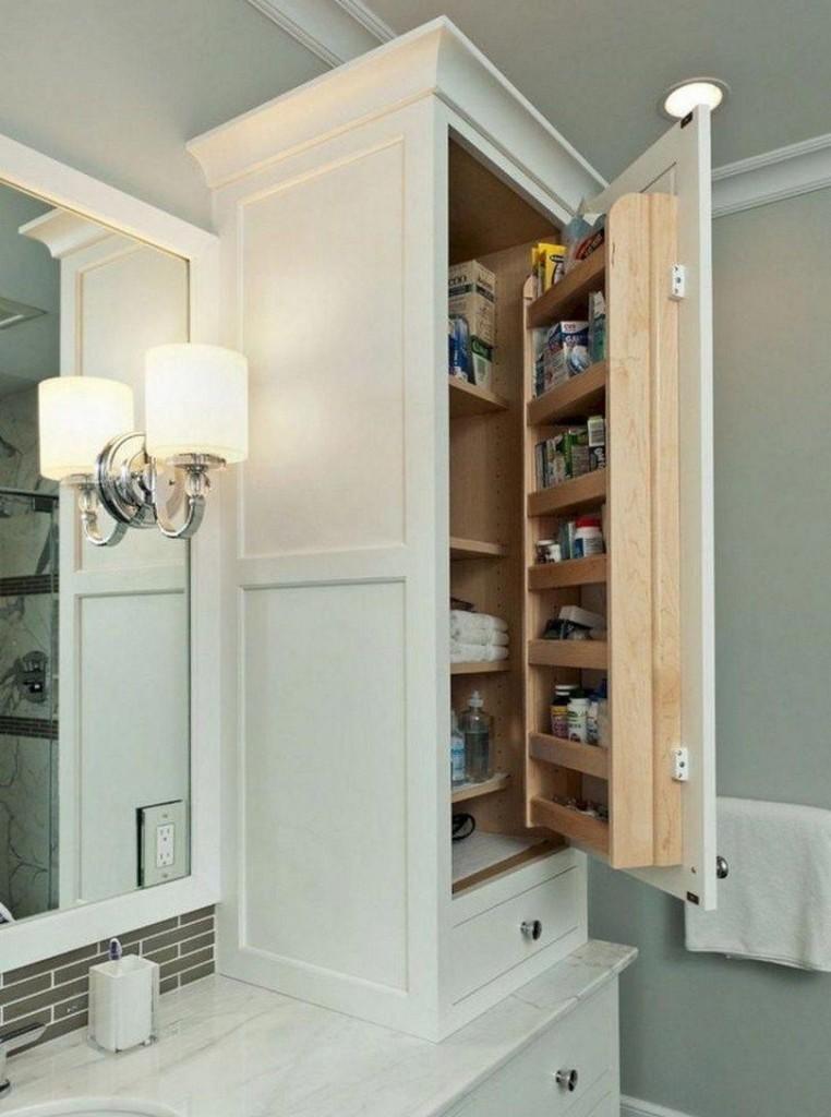 Armoire pratique avec étagères dans la porte