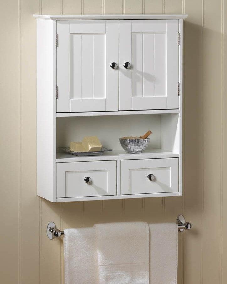Une petite armoire pour blesser les articles de toilette
