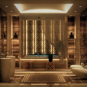 décor de photo de salle de bain moderne