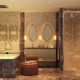 intérieur de photo de salle de bain moderne