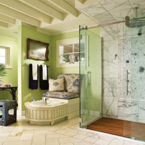 photo d'intérieur de salle de bain moderne