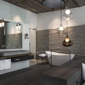 décoration photo de salle de bain moderne