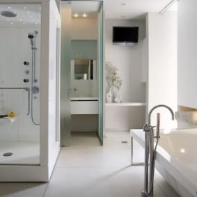 vue sur la salle de bain moderne