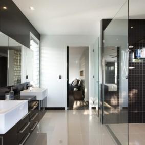 idées de vues de salle de bains modernes