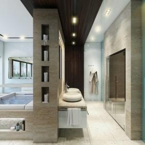 vues de décoration de salle de bain moderne