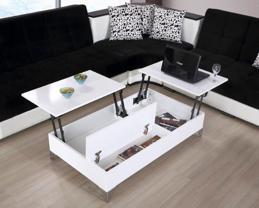Table pliante en bois aggloméré blanc