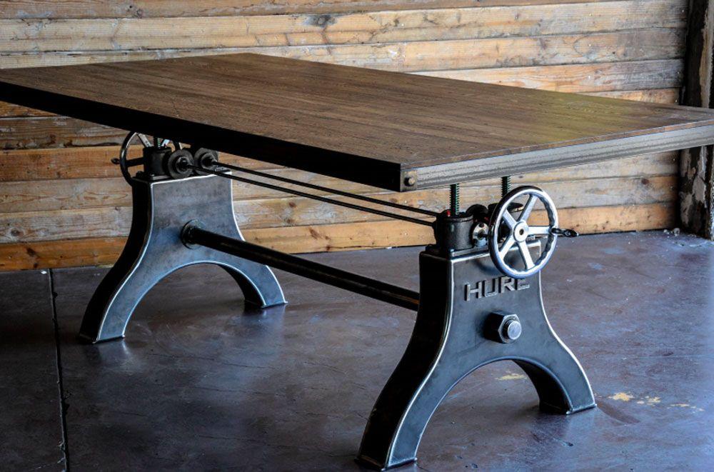 Table de salon de style loft vintage