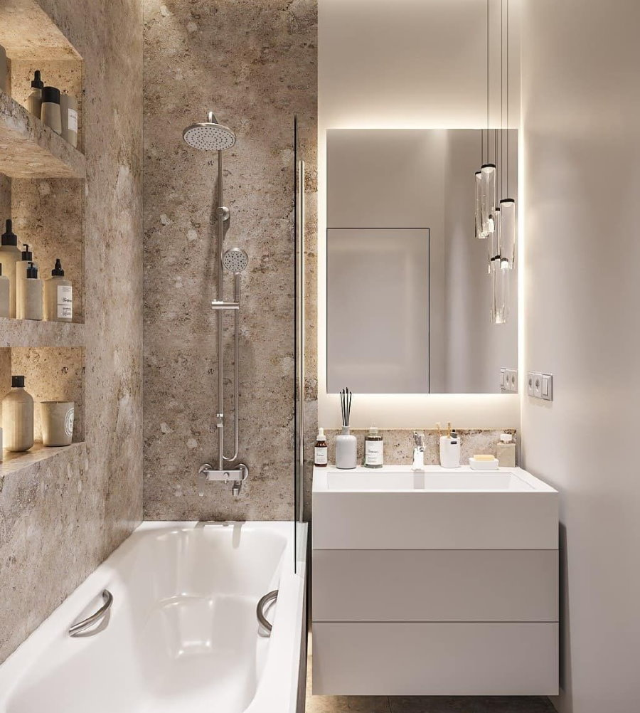 Miroir de salle de bain caché 3 mètres carrés
