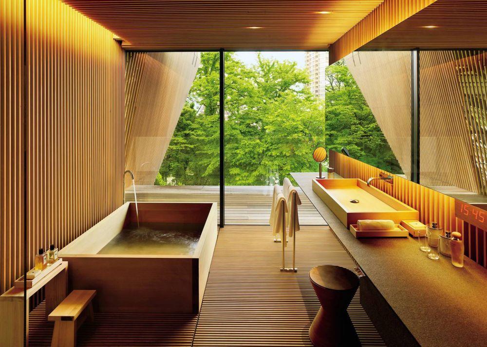 salle de bain japonaise traditionnelle