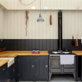 doublure à l'intérieur de la photo de la cuisine