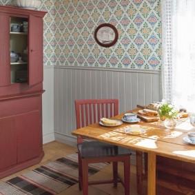 doublure dans la décoration photo de la cuisine