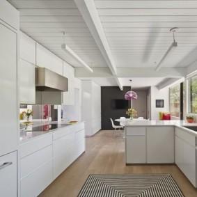 doublure dans les types de décoration de la cuisine