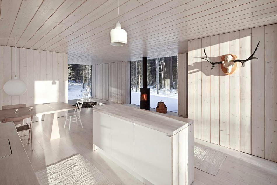 doublure dans le minimalisme de la cuisine