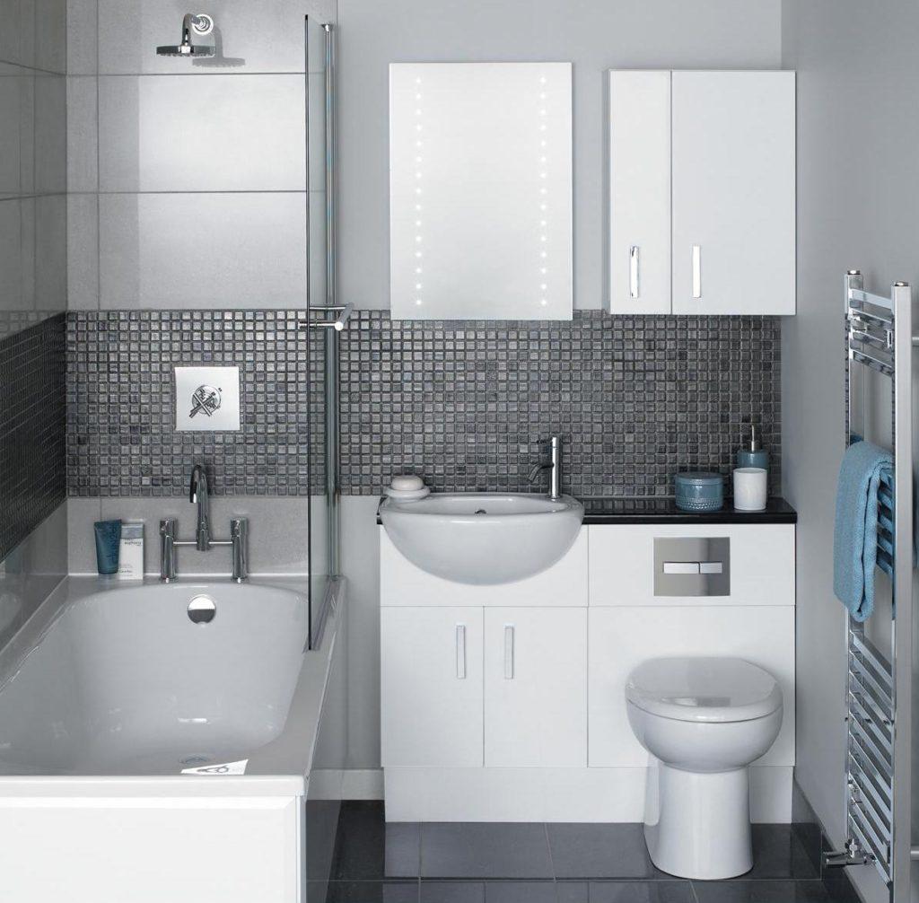 Phòng tắm theo phong cách tối giản ở Khrushchev