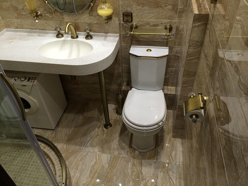 máy giặt phòng tắm dưới bồn rửa