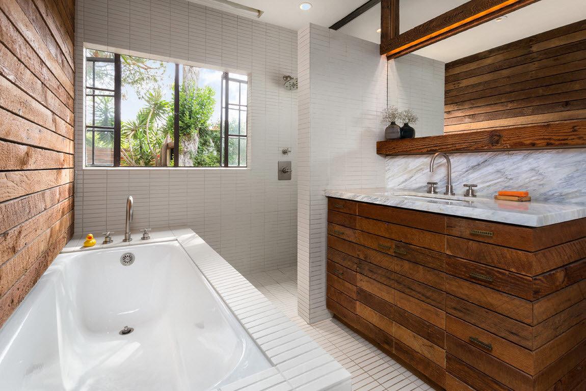 Salle de bain 2019 bois à l'intérieur