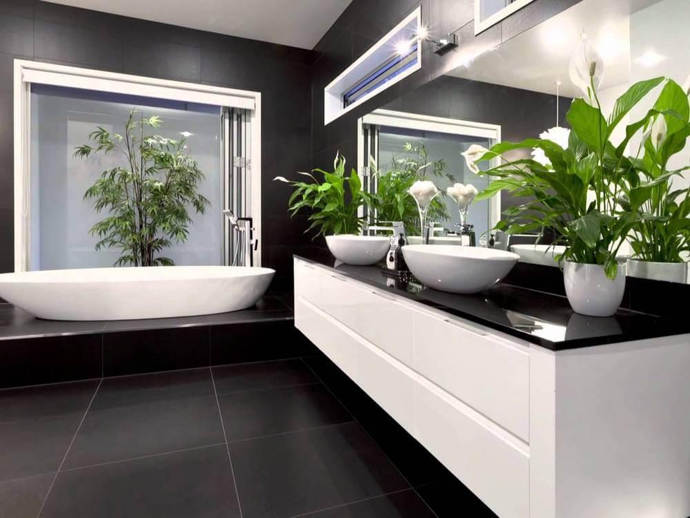 2019 salle de bain avec des plantes