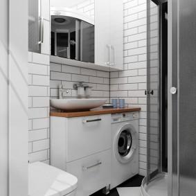 phòng tắm trong ảnh nội thất Khrushchev