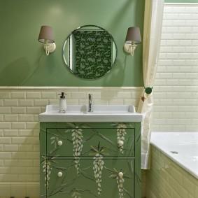 phòng tắm trong Khrushchev ảnh nội thất