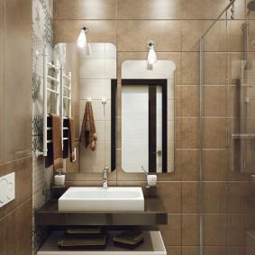 phòng tắm ở Khrushchev kiểu thiết kế