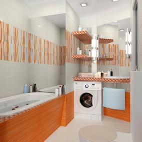 phòng tắm trong ảnh thiết kế của Khrushchev
