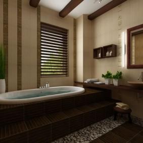 photo de décoration de salle de bain de style japonais